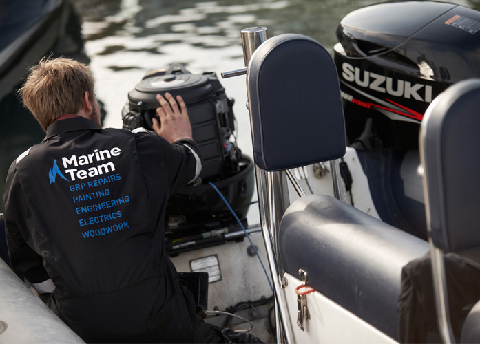 Mylor marine team at work